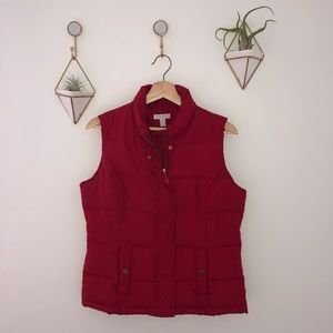CHARTER CLUB red vest jacket gold petite small